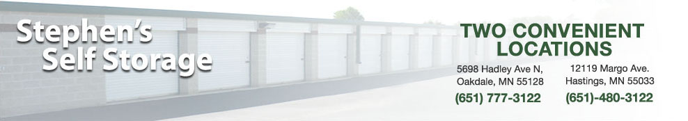 Stephen's Storage Solutions - Oakdale Minnesota - Hastings Minnesota